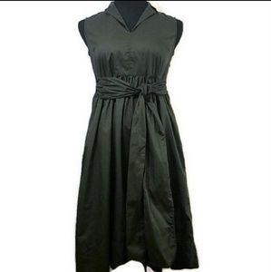 Liz Claiborne Green Petite Midi Dress